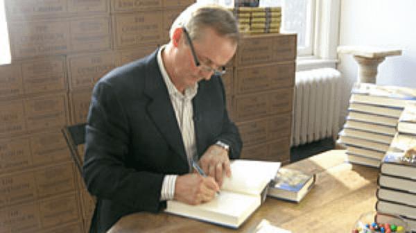 grisham signing the confession