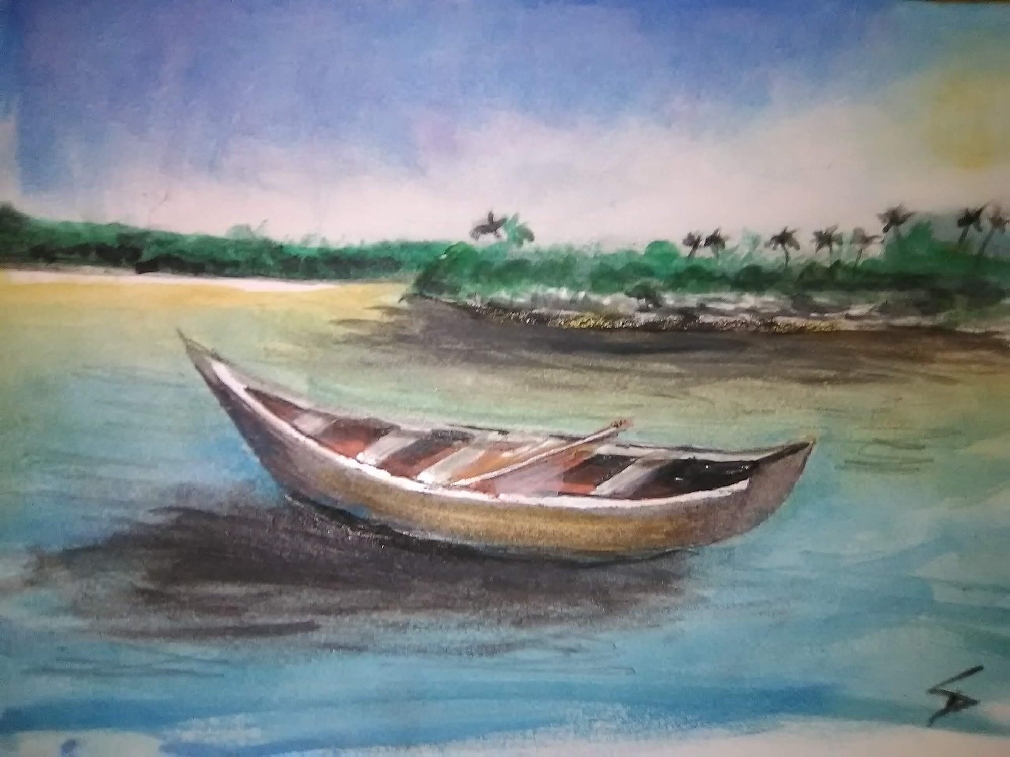 Watercolor exercise #5 - sampan
