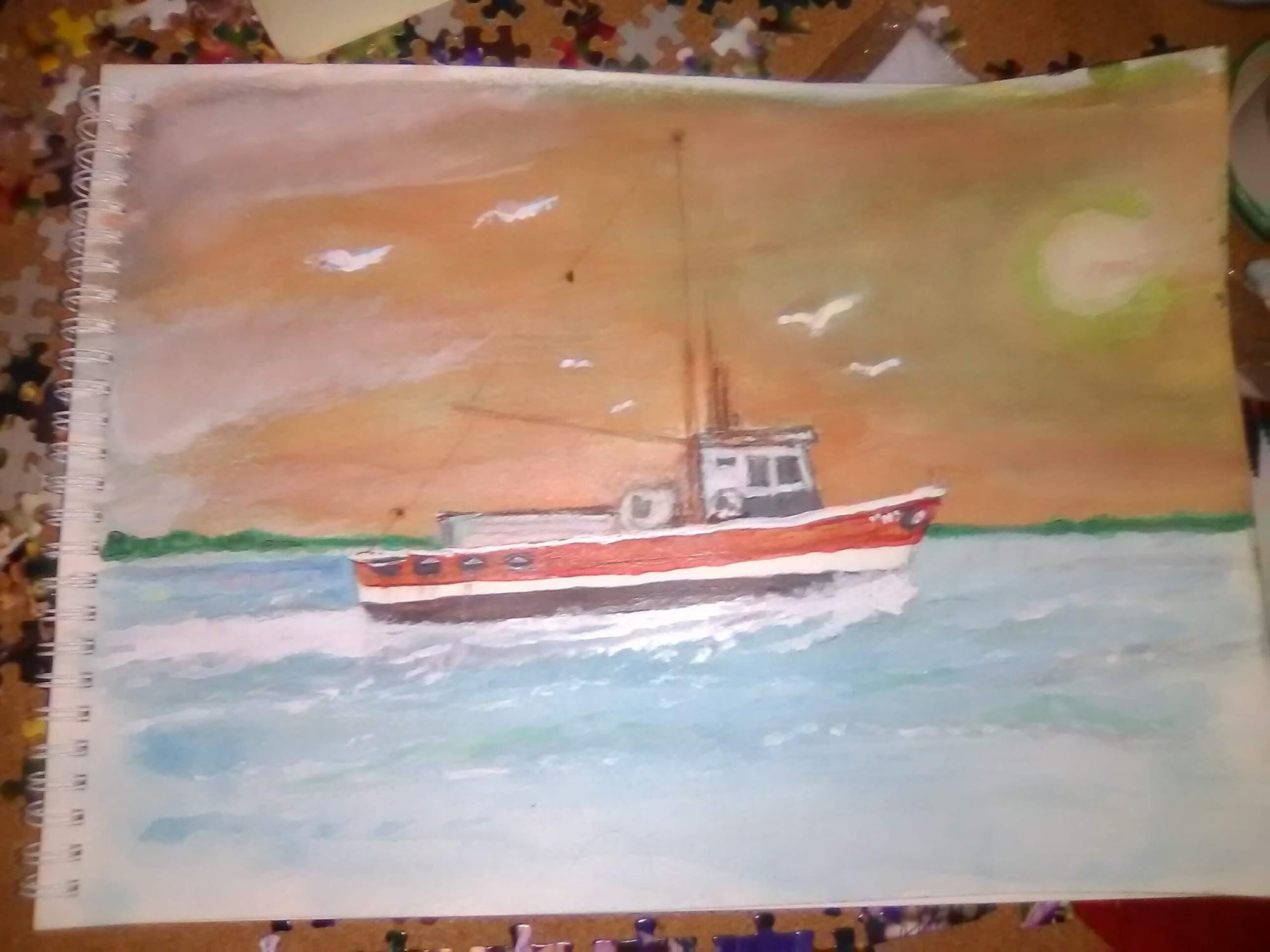 trawler - watercolor exercise #3